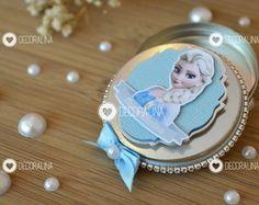 Latinha Frozen Luxo Lembrancinha e Cute