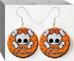 Cute Grunge Skull halloween earrings