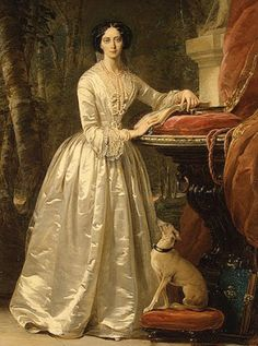"""""""Portrait of Grand Duchess Maria Alexandrovna"""" (1849) Christina Robertson. Oil on canvas. The Winter Palace, The State Hermitage Museum, Russia."""