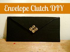 DIY envelope clutch with very little sewing