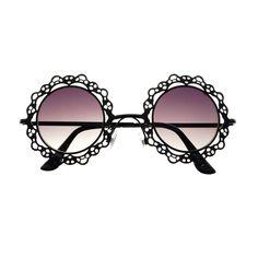 Único del metal de encaje retro para mujer independiente Hippie Gafas de sol redondas R1620 - FREYRS Gafas