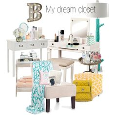 My dream closet by mamagez21 on Polyvore featuring polyvore, interior, interiors, interior design, home, home decor, interior decorating, Universal Lighting and Decor, Safavieh, Dot & Bo, ELK Lighting, Stray Dog Designs, BESTTIME, Superior, H&M, Sonoma life + style, Crate and Barrel, Pottery Barn, Waterford, Cultural Intrigue, Diane James, Chanel, Lancôme, Viktor & Rolf, Givenchy, Cochine Saigon and Marc Jacobs