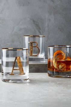 Gilded Monogram Glass, £14 | 24 Gifts All Drink Lovers Should Ask For This Year