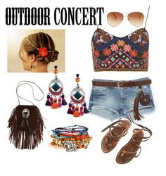 Summer Concert by destinyj77 on Polyvore featuring polyvore, fashion, style, Topshop, Zara, K. Jacques, Yves Saint Laurent, REMINISCENCE, Aéropostale and Tommy Hilfiger