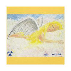 Sleeping Angel - Canvas...Angel, Religion, Sleeping, Peace, Beauty, Angelic...Category, Spirituality & Inspirational, Spiritual & Mythological, Figures, Angels