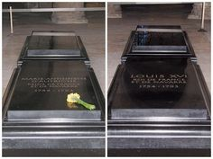 The graves of Louis XVI and Marie Antoinette