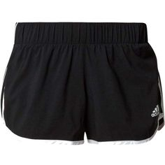 adidas Performance Sports shorts black ($33) ❤ liked on Polyvore featuring activewear, activewear shorts, adidas activewear, adidas, adidas sportswear and sports activewear