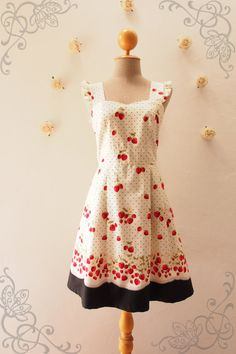 My Strawberry Dress Orchard Garden Dress Ruffle Strap by Amordress