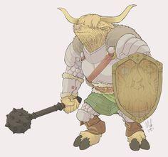 Minotaur Paladin by Lord-Of-The-Guns on DeviantArt