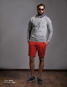 Hoodie: Steven Short Pants: Dylan  Discover Men's collection at www.staff-jeans.com/look-book-men/