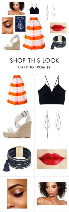"""""""The Anchor Cutie"""" by ceelsasser ❤ liked on Polyvore featuring Delpozo, Charlotte Russe, Diane Kordas and Design Lab"""