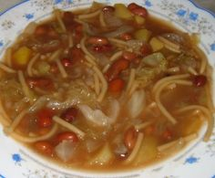 Cinco Quartos de Laranja: Sopa de feijão com massa