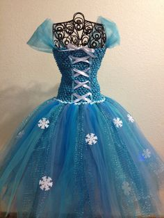 Winter Princess Tutu Dress by TulleBoxTutus on Etsy, $40.00