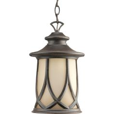 Progress Lighting Resort Collection 1-Light Outdoor Aged Copper Hanging Lantern-P6504-122DI - The Home Depot