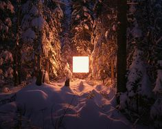 Alternative Landscapes by Benoit Paille. (2012). landscape with floating 1x1 glowing square.