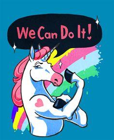 Unicorns Can Do It https://www.teepublic.com/show/2017-unicorns-can-do-it By Tuuli Juntunen