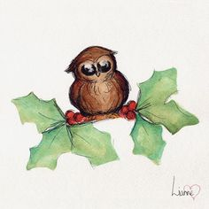 Cute Animal Christmas cards set of 4 by SproutymouseDoodles