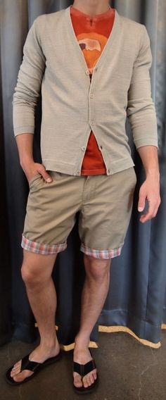 Life/After/Denim chino pant $105, Zanerobe tank top $60, SWIMS shoes $160 all from Gotstyle Menswear.
