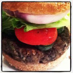 Black bean and black rice burger - Vegan Soul Food - VeganSoulFood.info