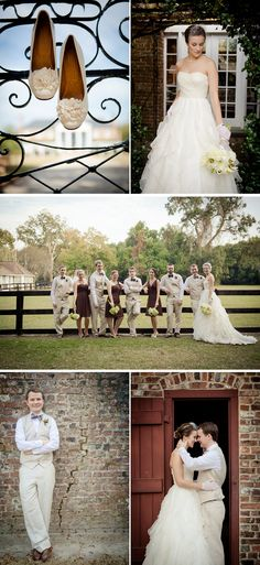 brown and tan for a fall wedding  rustic-fall-plantation-wedding-1