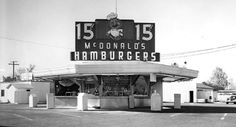 One of the first McDonalds restaurants open in 1948