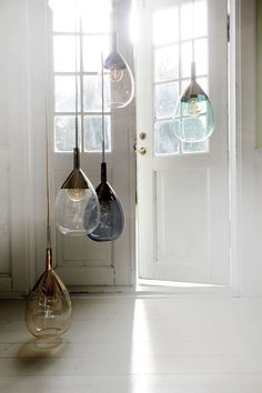 LUTE pendant lamp in multiple shades. The inspiration behind the LUTE is perfume. Think elegant vintage labels with gold lettering and delicate translucent coloured bottles of scent. Glass Pendant Light, Ceiling Pendant, Pendant Lighting, Ceiling Lights, Pendant Lamps, Glass Pendants, Glass Lights, Drop Lights, Interior Lighting