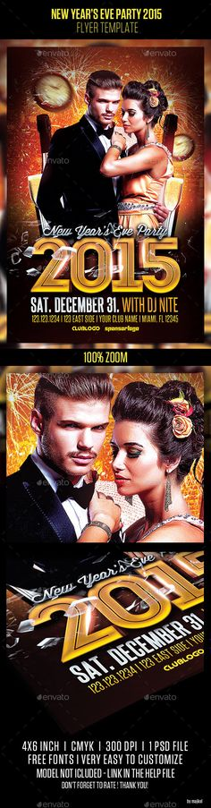 Dj Promote Flyer Vol 1 Techno house and Dj - free new years eve flyer template