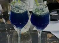 Ice Blue Lemonade: 1 lemons (piece); food coloring blue; to taste water; 2 tbsp. sugar; ¼ tsp. salt; ½ tsp. black pepper; 1 c. crushed ice; to taste fresh mint Take water, lemon juice, blue color, sugar, salt, ground black pepper+ice in Blender+blend it well . Then take it in glass+add white soda. Serve it with mint leaves!