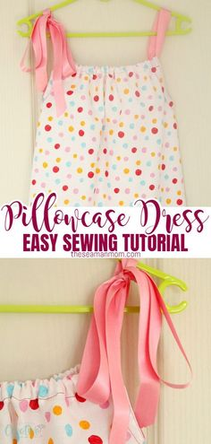 Love beginner sewing projects for kids? This ultimate pillowcase dress is the perfect project! Here's how to make an easy to sew, cute and comfy DIY pillowcase dress!  #easypeasycreativeideas #sewing #sewingpattern #sewingtutorial #sewingproject #pillowcasedress #sewingforbeginners #beginnersewing #dresspattern Baby Sewing Tutorials, Sewing Patterns For Kids, Dress Tutorials, Dress Sewing Patterns, Sewing Projects For Beginners, Sewing For Kids, Skirt Patterns, Blouse Patterns, Free Sewing