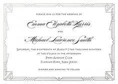 Personalized Stationery - Decadent Deco Invitation