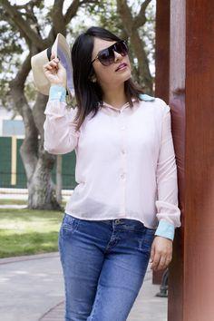 Pinkadicta: Sombrero y blusa de gasa
