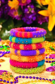 When in doubt, colorful jewelry like the Mardis Gras Party Bangles by Beth Moriarty by PurlQueen, via Flickr are the perfect Christmas gift for this Fool. I wouldn't want to show up to a party drably dressed. That would be silly - how would I draw attention to myself?