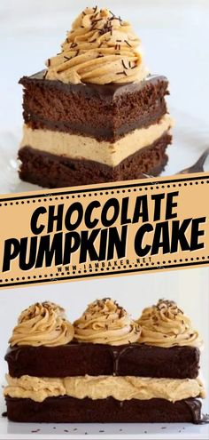 The magical combination of pumpkin and chocolate in this Chocolate Pumpkin Cake is intensified with the smooth, creamy textures in this perfect recipe! This Thanksgiving cake has a rich and decadent flavor with a super fun presentation. This dessert is worth trying for! Chocolate Pumpkin Cake, Best Chocolate, Chocolate Cookies, Pumpkin Recipes, Cake Recipes, Cupcake Cakes, Cupcakes, Thanksgiving Cakes, 21st Birthday Cakes