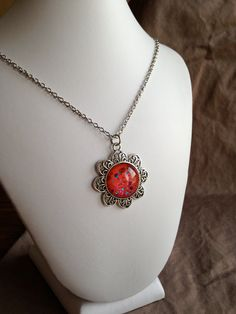 Nail Polish Necklace  Flower Pendant SF5 by PolishedFindings