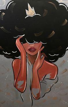 Home Art Pictures Ideas – Modern Home Black Art Painting, Black Artwork, Painting Of Girl, Black Love Art, Black Girl Art, Art Girl, Cute Canvas Paintings, Canvas Art, Art Paintings