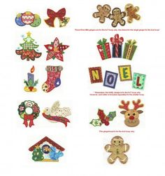 Christmas Patchwork Applique Machine Embroidery Designs | Designs by JuJu