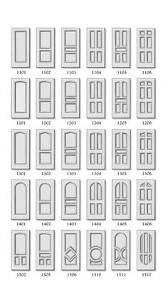 Interior Doors. The model will be the 1106. if you can see the design. White.