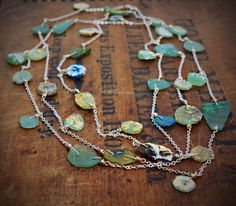 Ancient Roman Glass Necklace Sterling Silver Handmade Wild Prairie Silver Jewelry on Etsy, $168.00
