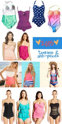 Our Top Picks for 2015 Tankinis & One-Pieces