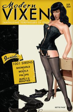 Bettie Page Modern Vixen Pin-Up. Poster from AllPosters.com, $8.99