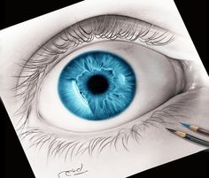 Blue Eye drawing by Ayman Arts | No. 182
