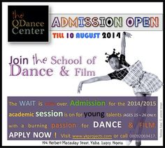 Admission is open to everyone ages 16 to old. Into the school of dance and film. Maria Montessori, How To Apply, Passion, Age, Play, Film, School, Memes, Books