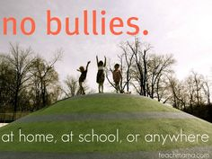 Bullying is not okay. It's not okay at home, at school, on the field–anywhere. Bullying; we need to end it at home, school, everywhere.  Here are some great teacher resources and for parents too on how to stop the bullying! #teachmama #bully #bullying #teachers #resources #teacherresource #classroomideas #parentingtips