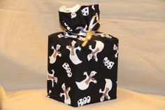 Halloween GHOSTS BOO GHOST 100% cotton fabric tissue box cover fabric gift bag #Handmade