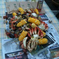 Crab boil deliciousness tonight