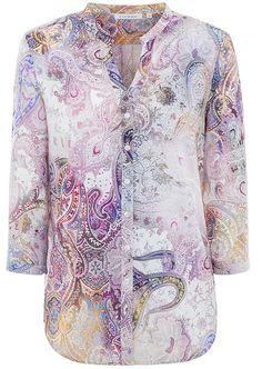 ETERNA 3/4-Arm Bluse spannende bunte Prints