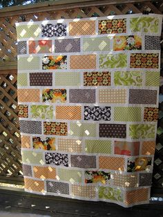 quilt- this would be a good pattern for all my vintage sheets