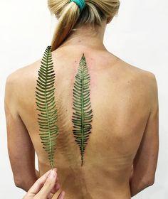 Fern Spine Tattoos