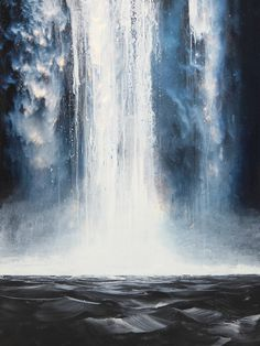 State of Flow 2 Layer Paint, Canadian Artists, Flow, Waterfall, Waves, Landscape, Gallery, High Gloss, Artwork