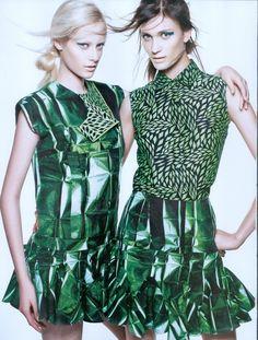 Thairine Garcia andLovani Pinnow for Harper's Bazaar, September 2012  #NMArtofFashion
